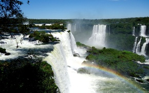 Picture squirt, rainbow, The Iguaçu Falls, Iguazu falls
