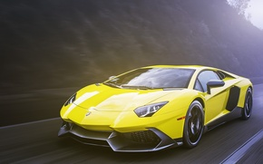 Picture yellow, Lamborghini, Lamborghini, yellow, Aventador, aventador, LP720-4