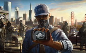 Picture Ubisoft, San Francisco, Game, Phone, Marcus, Marcus Holloway, Watch Dogs 2, DedSec, Marcus Holloway
