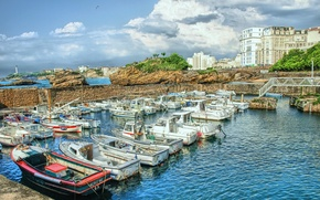 Picture France, boats, Aquitaine, Biarritz