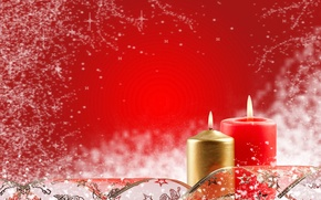 Picture red, new year, candles