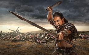 Wallpaper Spartacus, Spartacus, War of the damned, Pana Hema Taylor, Nazir