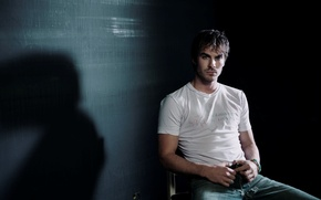 Wallpaper Ian Somerhalder, Damon, actor, Ian Somerhalder, The vampire diaries