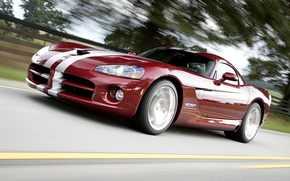 Picture road, speed, Dodge, Viper