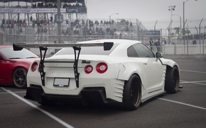 Picture white, Nissan, GT-R