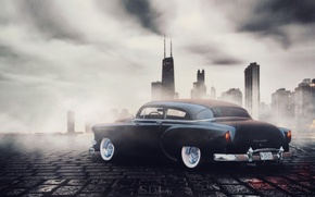 Picture auto, photoshop, the evening, car, chevrolet, chicago