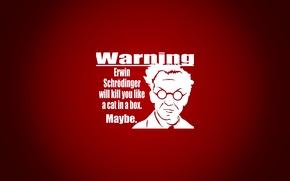 Wallpaper warning, Schrodinger Erwin, red
