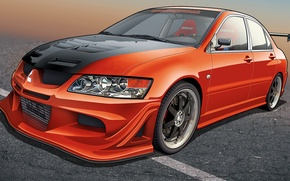 Picture machine, figure, mitsubishi, lancer, evolution