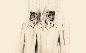 Wallpaper glasses, dreadlocks, skeletons