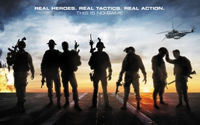 Wallpaper weapons, action, soldiers, helicopter, Act of Valor, Act of valor