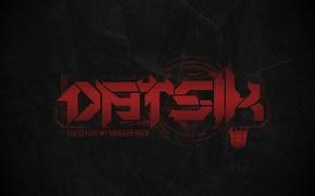 Picture Music, Logo, Red, Logo, Music, Black, Dubstep, Datsik