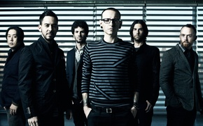 Picture linkin park, Phoenix, promo, Chester, Mr. Han, Living Things, Mike, Brad, Rob