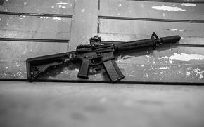 Picture weapons, background, machine, muffler, assault rifle