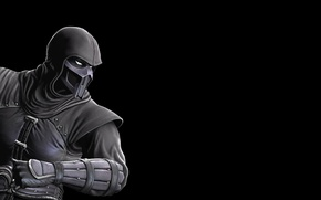 Wallpaper saibot, noob, black, black background, mortal kombat