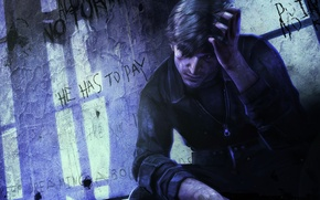 Picture labels, art, hero, shadows, grille, prison, main, Silent Hill downpour, Murphy Pendleton