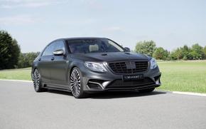 Picture black, Mercedes-Benz, Matt, Mercedes, Black, Mansory, S-Class, W222, 2015