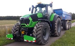 Picture big, tractor, farming, Deutz Fahr, 9340