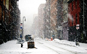 Picture snowfall, snowfall, New-York, New York, Winter, Winter, Snow, New-york under snow