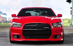 Picture Red, Auto, Tuning, Machine, Dodge, SRT8, Charger, Before