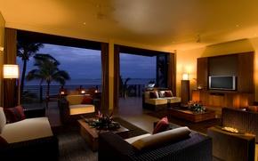 Picture design, house, style, room, Villa, interior, terrace