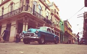 Picture people, street, car, Cuba, Havana