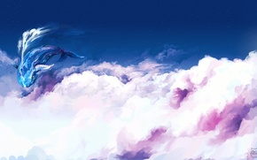 Picture clouds, flight, fantasy, art, kit, in the sky, ominoux
