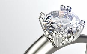 Wallpaper ring, diamond, gemstone