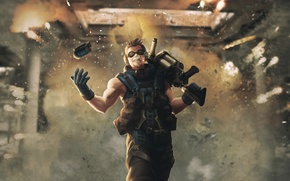 Picture the explosion, fire, grenade launcher, bomber, grenades, the ballistics, the bomber, ballistic, grenader, thrower, Grenadier