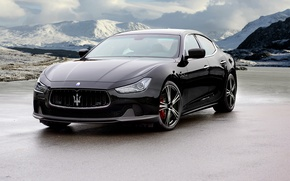 Picture black, Maserati, Black, Maserati, Mansory, Ghibli