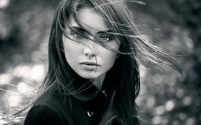 Picture look, portrait, the beauty, Nataly, natural light, Autumn portrait