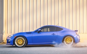 Picture Subaru, profile, blue, blue, Subaru, brz