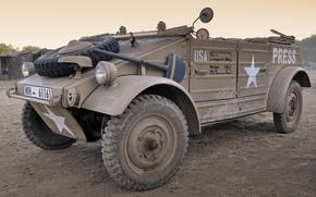 Picture war, Volkswagen, car, military, purpose, high, patency, world, Second, times, (Kübelwagen), Tour 82