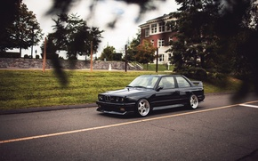Picture black, tuning, BMW, BMW, black, tuning, E30