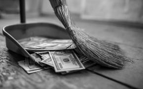 Picture lost, money, broom, lack of control, inecesarios costs