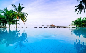 Picture sea, relax, pool, Thailand, pool