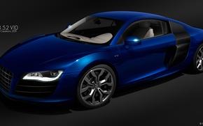 Picture Audi, figure, audi r8 v10 quattro