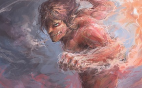 Picture wallpaper, fire, flame, game, soldier, big, anime, power, muscles, transformation, hero, asian, giant, warrior, manga, …