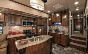 Picture interior, design. house, Oakmont, spacious kitchen area