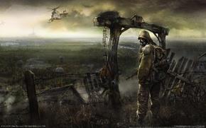 Wallpaper the fence, Chernobyl, clear sky, Pripyat, Stalker, Stalker