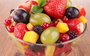 Picture berries, fruit, fresh, dessert, fruits, dessert, berries, fruit salad, salad