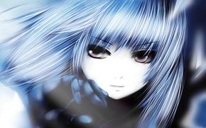 Picture eyes, girl, anime, Battle Angel Alita