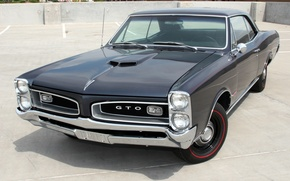 Picture muscle car, classic, Coupe, Pontiac, GTO, the front, 1966, Pontiac, Tempest, Hardtop
