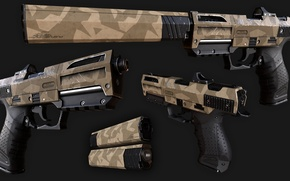 Picture rifle, camouflage, gun