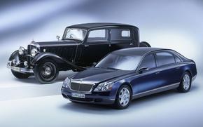 Picture Maybach, auto, retro, mixed