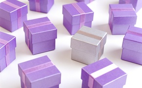 Wallpaper purple, lilac, holiday, color, gifts, purple, box