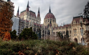 Picture Park, Parliament, the building, nature, architecture, the city, Hungary, overcast, Hungary, Budapest, autumn, Budapest