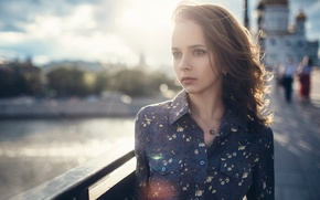 Picture look, the city, portrait, the beauty, bokeh, Pavel Smetanin, Valery Smetanin