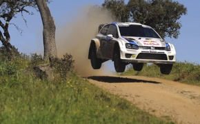 Picture Auto, White, Sport, Volkswagen, Machine, Speed, Portugal, Car, Red Bull, WRC, Rally, Rally, Polo, In …