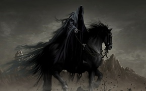 Picture horse, fantasy, Ghost, rider