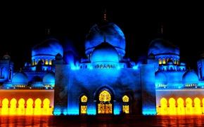 Picture night, UAE, The Sheikh Zayed Grand mosque, Abu Dhabi, Sheikh Zayed Grand Mosque, Abu-Dhabi